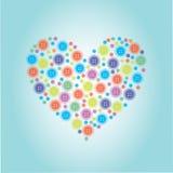 Hjärtan som göras av knappar Royaltyfri Fotografi