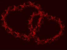 Hjärtan symboliserar förälskelse och passion Royaltyfri Bild