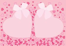 Hjärtapilbågedesign på rosa bakgrund royaltyfri illustrationer