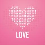 HjärtaPIXELsymbol, vektorillustration Arkivfoto