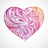 hjärtaprydnad stock illustrationer