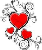 Hjärtaprydnadar Royaltyfri Fotografi