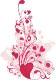 hjärtaprydnaden shapes valentinen Arkivbilder