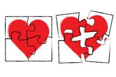 hjärtapussel vektor illustrationer
