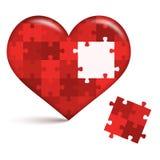 Hjärtapussel med det öppna stället royaltyfri illustrationer