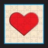 Hjärtapusselvektor Arkivbilder
