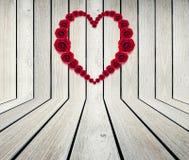 Hjärtaram från röd ros Royaltyfria Bilder
