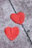 hjärtared två arkivbilder