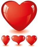 hjärtaredset vektor illustrationer