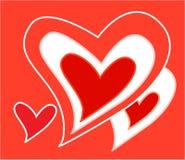 hjärtaredvektor Arkivfoton