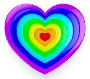 hjärtaregnbåge Royaltyfri Bild