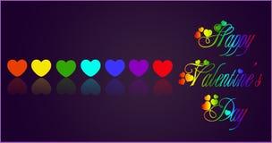 Hjärtaregnbåge Royaltyfria Bilder