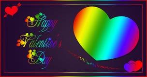 Hjärtaregnbåge Arkivfoto