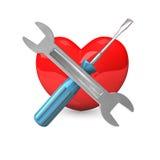 Hjärtareparation royaltyfri illustrationer