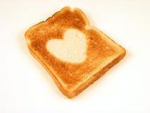 hjärtarostat bröd Royaltyfri Foto