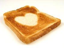 hjärtarostat bröd Royaltyfria Bilder