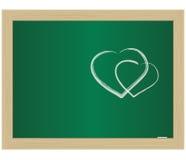 hjärtaskola för blackboard eps10 vektor illustrationer