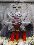hjärtaskulptur royaltyfri foto
