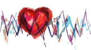 Hjärtastryk Arkivbilder