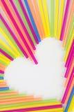 hjärtasugrör Arkivfoto