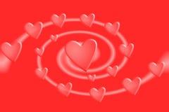 hjärtaswirl stock illustrationer