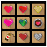 Hjärtasymbolsuppsättning - illustration Royaltyfri Bild
