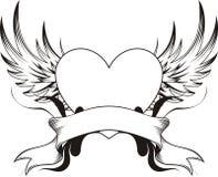 hjärtatatuering Royaltyfria Bilder