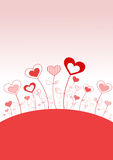 Hjärtaträdgård av förälskelse Arkivfoto