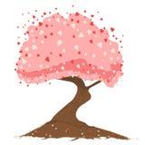 hjärtatree Royaltyfri Foto