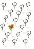 Hjärtatree vektor illustrationer