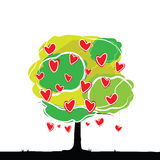 Hjärtatree Arkivfoto