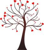 hjärtatree royaltyfri illustrationer