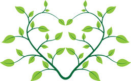 Hjärtaväxt vektor illustrationer