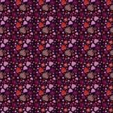 HjärtaValentins abstrakt begrepp för dag på brun backgraound med hjärta royaltyfri illustrationer