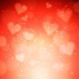 Hjärtavektorbakgrund Arkivbilder