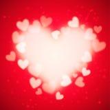Hjärtavektorbakgrund Arkivfoto
