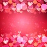 Hjärtavektorbakgrund Arkivbild