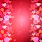 Hjärtavektorbakgrund Royaltyfri Fotografi