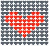 Hjärtavektorförälskelse Romantiker mönstrar vektor illustrationer