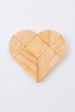 Hjärtaversion av tangramen, en gjord traditionell lek för kinesiskt pussel Royaltyfri Fotografi