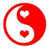 hjärtayang yin vektor illustrationer