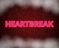 Hjärtesorgneonbokstäver SAD mood också vektor för coreldrawillustration stock illustrationer