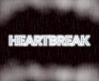 Hjärtesorgneonbokstäver SAD mood också vektor för coreldrawillustration vektor illustrationer