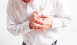 Hjärtinfarkt för affärsman Arkivfoton