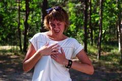 Hjärtinfarkt smärtar arkivfoton