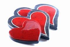 hjärtor älskar överlappning Arkivbild