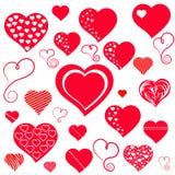 Hjärtor. royaltyfri illustrationer