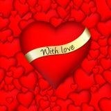 hjärtor 3d älskar red Arkivfoton