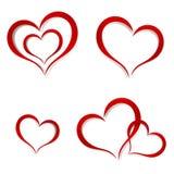 Hjärtor abstrakt färgrik logo för designdiagramillustration Arkivfoto