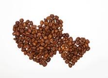 Hjärtor av kaffe Arkivfoto